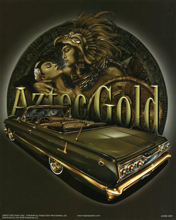 Aztec Gold (Embrace Over Car) Art Poster Print Posters