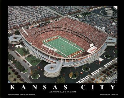 Kansas City Chiefs Arrowhead Stadium Sports Poster by Brad Geller