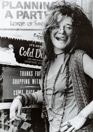 Janis Joplin Planning a Party Music Poster Print Print