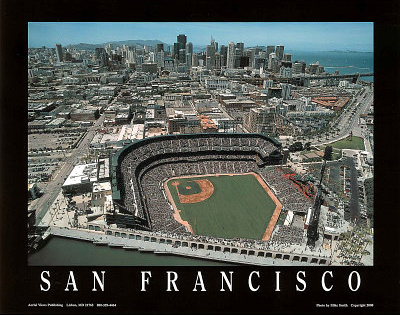 San Francisco Giants AT&T Park Sports Prints by Mike Smith