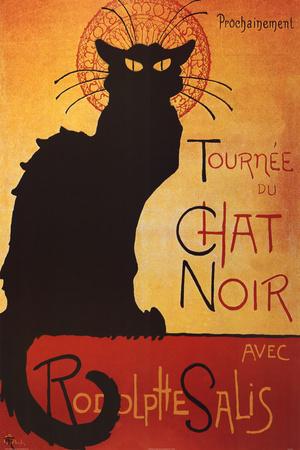 Theophile Steinlen Tournee du Chat Noir Avec Rodolphe Salis Art Print Poster Photo