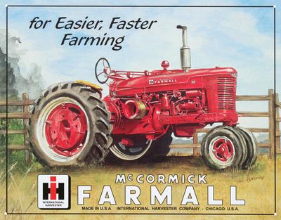 Farmall Model M Tractor Tin Sign