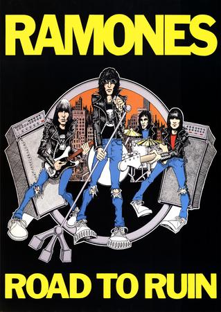 Ramones Road to Ruin Music Poster Print Print