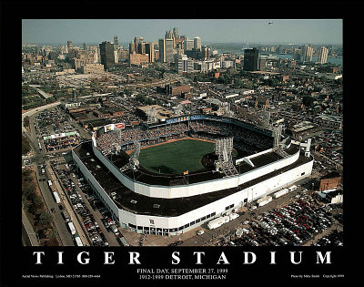 Detroit Tigers Tiger Stadium Final Day Sept. 27, c.1999 Sports Print by Mike Smith