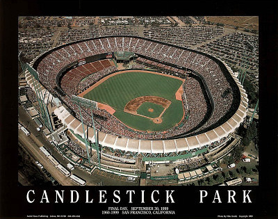 San Francisco Giants Candlestick Park Final Day Sept 30, c.1999 Sports Prints by Mike Smith