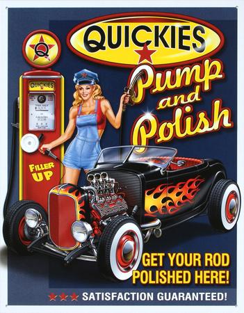 Quickies Pump and Polish Tin Sign