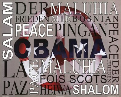 Barack Obama Peace Art Print Poster Poster