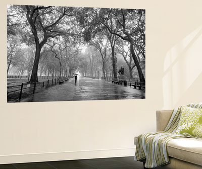 new york city poet 39 s walk central park by henri silberman mini mural huge poster art print. Black Bedroom Furniture Sets. Home Design Ideas