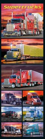 Supertrucks (Semi Trucks, Door) Art Poster Print Prints