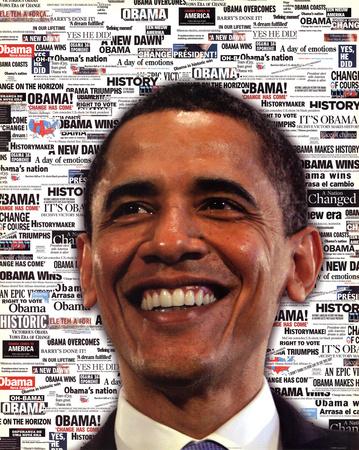 Barack Obama Headlines Art Print Poster Prints