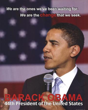 Barack Obama 44th President Art Print Poster Posters