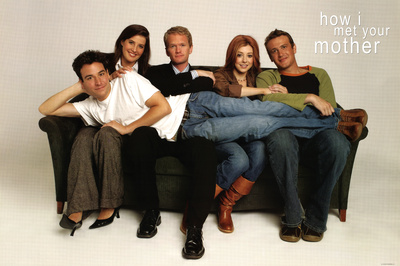 How I Met Your Mother Group on Couch TV Poster Print Print