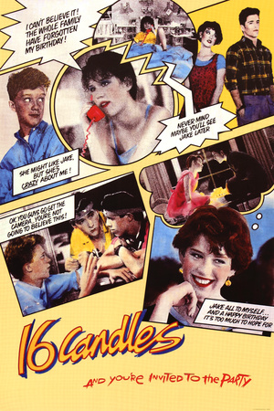 Sixteen Candles Comic Collage Movie Poster Print Prints