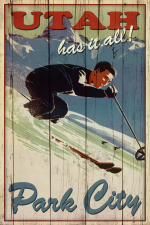 Kate Ward Thacker Ski Park City Utah Has It All Art Print Poster Poster
