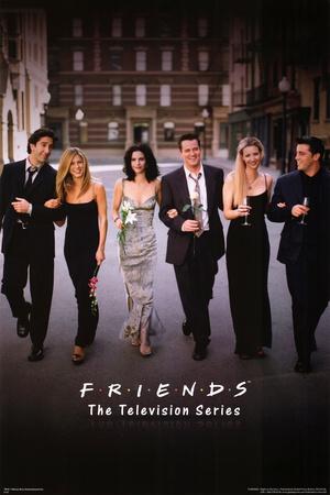 Friends Group Dressy TV Poster Print Print