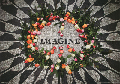 Imagine Central Park Mosaic John Lennon Memorial 3-D Lenticular Music Poster Print Posters