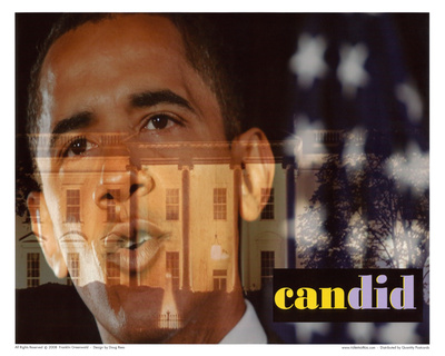 Barack Obama Candid Art Print Poster Posters