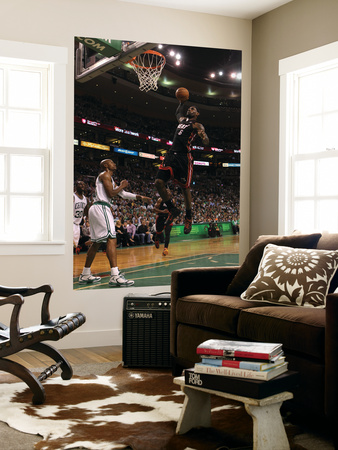 Boston, MA - June 03: LeBron James and Ray Allen Wall Mural by Jim Rogash