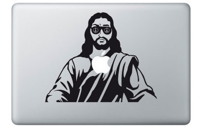 Jesus for Mac Laptop-Aufkleber