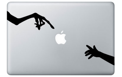 ET vs Nokia for Mac Laptopstickers