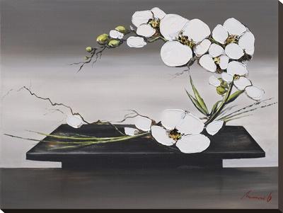 Bonheur D'Orchidées Blanches II Sträckt kanvastryck av Olivier Tramoni