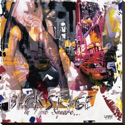 Backstage In Time Square Bedruckte aufgespannte Leinwand von Vincent Gachaga