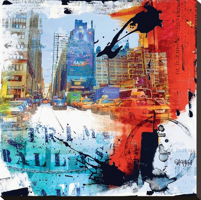 8 éme Rue Bedruckte aufgespannte Leinwand von Vincent Gachaga