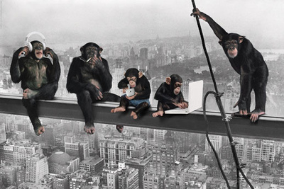 The Chimp-Girder Affiche