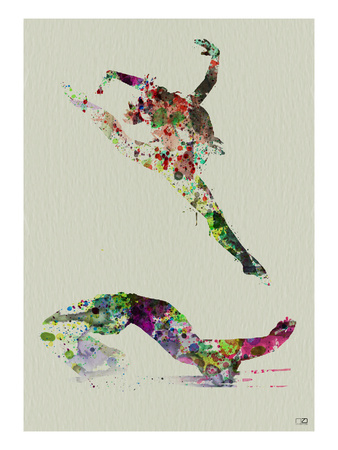 Ballet Watercolor 3 Print by  NaxArt