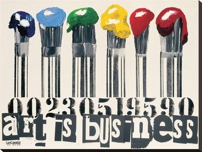Art Is Business Bedruckte aufgespannte Leinwand von Vincent Gachaga