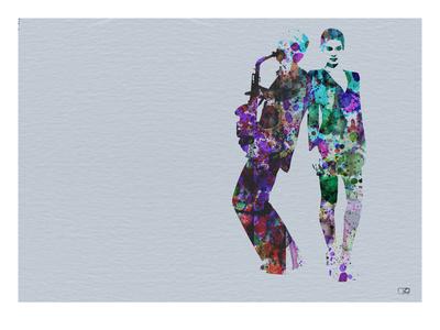 Jazzman Watercolor Print by  NaxArt