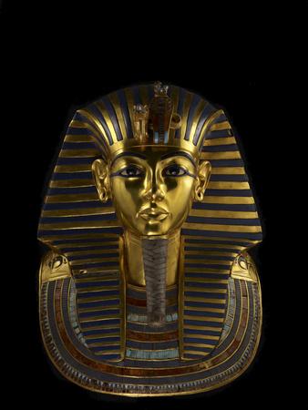 The Funerary Mask of King Tutankhamun Fotoprint av Kenneth Garrett