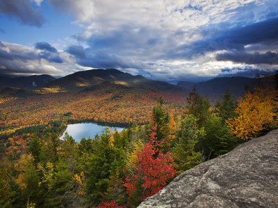 Heart Lake and Algonquin and Wright Peaks Photographic Print by Michael Melford