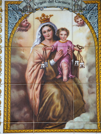 Virgen Del Carmen Tilework, Malaga, Andalucia, Spain, Europe Photographic Print by  Godong