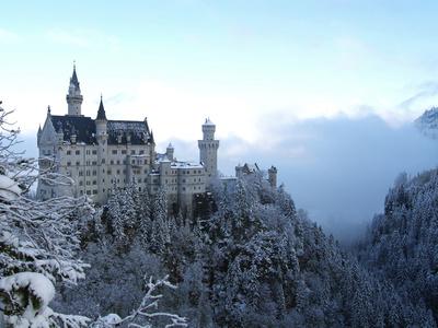 Neuschwanstein Castle in Winter, Schwangau, Allgau, Bavaria, Germany, Europe Photographic Print by Hans-Peter Merten