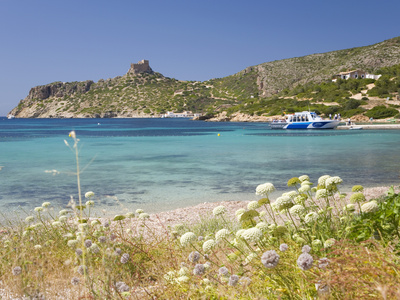 View across Bay to the Castle, Cabrera Island, Cabrera Archipelago National Park, Mallorca, Baleari Photographic Print by Ruth Tomlinson