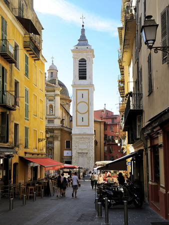 St. Reparate Cathedral, Place Rosseti, Old Town, Nice, Alpes Maritimes, Provence, Cote D'Azur, Fren Photographic Print by Peter Richardson