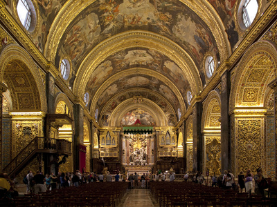Interior of St. John's Cocathedral, Valletta, Malta, Europe Photographic Print by Nick Servian