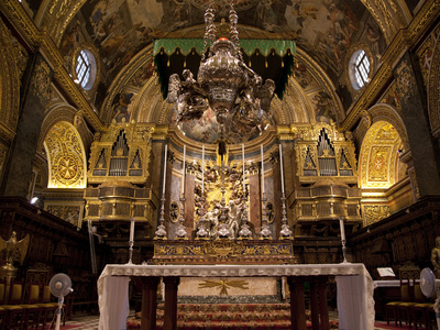 High Altar, St. John's Cocathedral, Valletta, Malta, Europe Photographic Print by Nick Servian