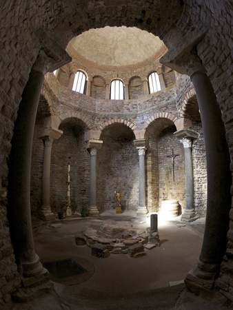 Paleochristian 5th Century Baptistery, Cathedral of St. Leonce of Frejus, Var, Provence, Cote D'Azu Photographic Print by Peter Barritt