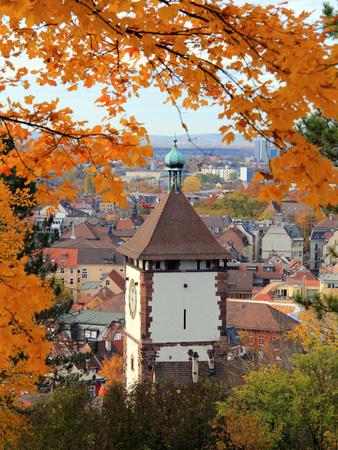 Autumn at Schlossberg, Schwabentor, Freiburg, Baden-Wurttemberg, Germany, Europe Photographic Print by Hans-Peter Merten