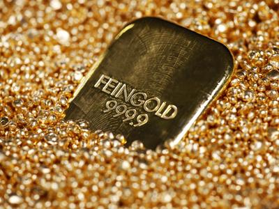 Gold Ingot, Frankfurt, Germany, Europe Photographic Print by Hans-Peter Merten