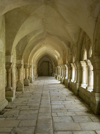 Cloisters, Fontenay Abbey, UNESCO World Heritage Site, Burgundy, France, Europe Photographic Print by Rolf Richardson