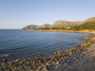 View Along Coast Towards Cap Ferrutx at Sunset, Colonia De Sant Pere, Near Arta, Mallorca, Balearic Photographic Print by Ruth Tomlinson