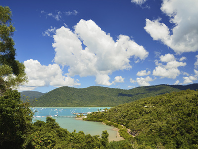 Shutehaven Harbour, Whitsunday Islands, Queensland, Australia, Pacific Lámina fotográfica