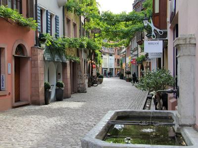 Konvikstravue, Old Town, Freiburg, Baden-Wurttemberg, Germany, Europe Photographic Print by Hans-Peter Merten