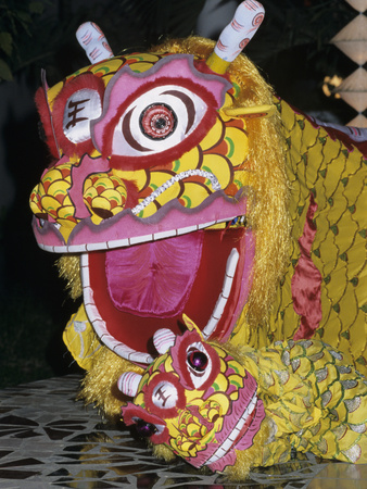 Chinese Dragon Dance at Chinese New Year Celebrations, Vietnam, Indochina, Southeast Asia, Asia Photographic Print by Stuart Black