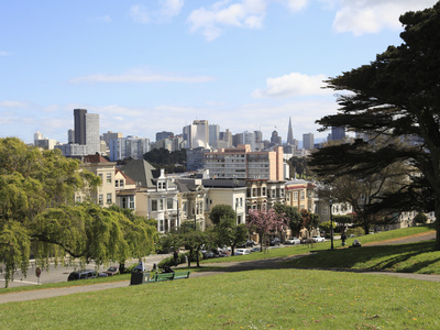 View of Alamo Square photo poster