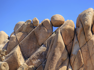 Granite Rock Formations, Joshua Tree National Park, California, Usa Photographic Print by Jamie & Judy Wild