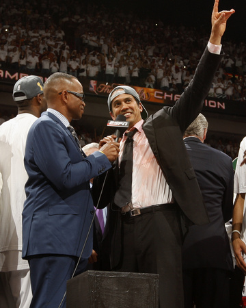 Miami, FL - June 21:  Head Coach Erik Spoelstra of the Miami Heat. Photo by Issac Baldizon